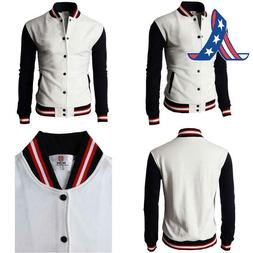 H2H Mens Casual Slim Fit Varsity Baseball Jackets Bomber Cot