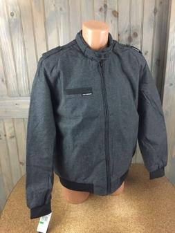 Members Only Mens Charcoal Gray Iconic Quilted Lined Jacket