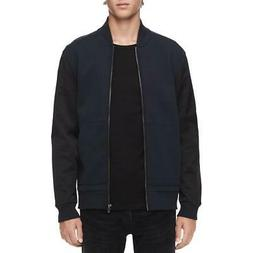 Calvin Klein Mens Fall Ribbed Trim Casual Bomber Jacket Oute