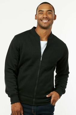 Mens Fleece Bomber Jacket Zip Up Winter Casual Cotton Polyes