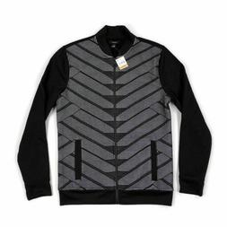 mens full zip jacket bomber patterned black