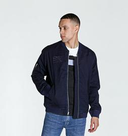 mens indigo dark blue ronin bomber jacket