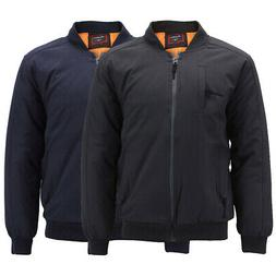 Mens Industrial Bomber Jacket Multi Pocket Quilted Water Res