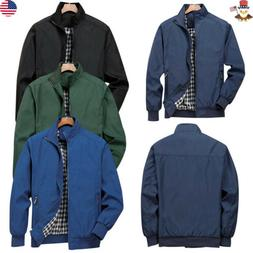 Mens Jacket Clothing Summer Lightweight Bomber Coat Casual O