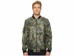 The North Face Mens Meaford Bomber Jacket Green Camo Print