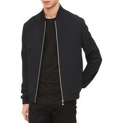 Calvin Klein Mens Navy Knit Textured Coat Bomber Jacket Oute