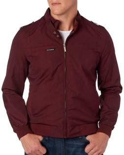 MENS MEMBERS ONLY ORIGINAL ICONIC RACER JACKET BURGUNDY SIZE