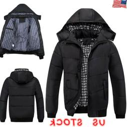 Mens Padded Bubble Hooded Coat Puffer Quilted Jacket Winter