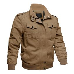 Mens Pilot Bomber Jacket Spring Coats MA-1 Military Army Cot