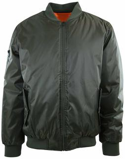 Mens Premium Quality Thick Bomber MA-1 Flight Jacket, Puffy