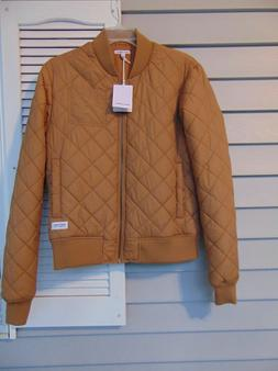 Banks Journal Mens Tan Bomber Jacket Quilted Clay Size Mediu