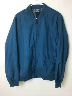 Mens Ted Baker Teal Blue Outs Bomber Zip Jacket Size 4 Retai