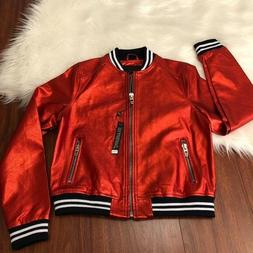 Blank NYC metallic red bomber jacket
