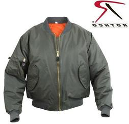 Military Style Sage Green Flight Jacket Air Force MA-1 Bombe