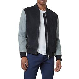Reaction Kenneth Cole Mixed Material Bomber Jacket - Men's -