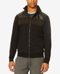 Kenneth Cole Reaction Mixed Media Bomber Jacket Black Mens S