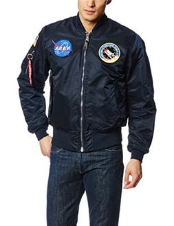Men's Alpha Industries Nasa Ma-1 Bomber Jacket, Size Large -