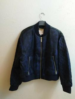 Ted Baker Navy Sandey Houdinii Quilted Bomber Jacket Size 12