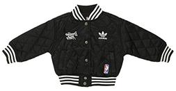 adidas NBA Toddler's Brooklyn Nets Quilted Satin Snap Front