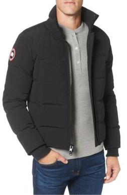 NEW $1895 CANADA GOOSE Men's Black DOWN FLIGHT BOMBER JACKET