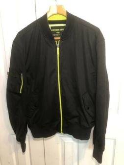 NEW ALPHA INDUSTRIES Bomber Jacket Sz 2XL BlackGreen
