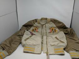 New Alpha Industries Embroidered Tiger Flight Reversible Bom