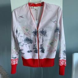 New Ted Baker Illian Lake Of Dreams Woven Bomber Jacket TB S