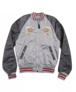 NEW Alpha Industries MA-1 Souvenir Double Dragon Flight Bomb