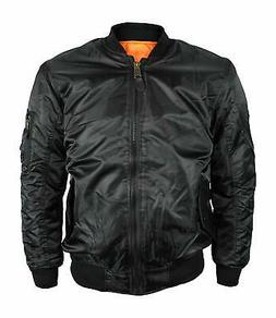 Maximos NEW Men's Black Orange Reversible Bomber Water Resis
