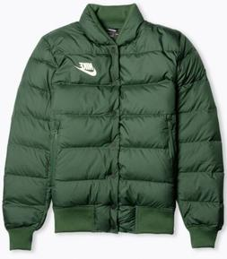 Nike Men's Down Fill Bomber Jacket Sz-XL Galactic Jade/Sail
