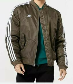 NEW MEN'S ADIDAS ORIGINALS TREFOIL PADDED BOMBER JACKET ~ LA