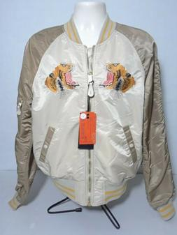 New Alpha Industries Reversible Embroidered Tiger Bomber Fas
