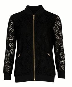 NEW Ted Baker Zairah Black Lace Bomber Jacket Size 0, UK 6-8
