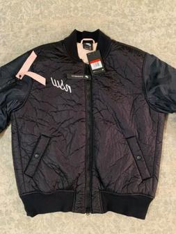 Nike NSW Synthetic Fill Bomber Jacket Black/Pink 928917-010