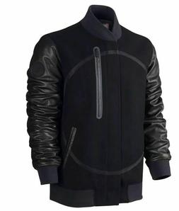 NWT $500 Mens Nike Destroyer Jacket Bomber Wool Leather Vars