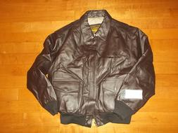 NWT Air Force A-2 Landing Leathers Soft Leather Bomber Pilot