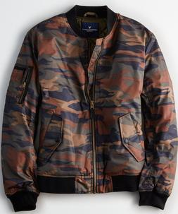 NWT American Eagle CAMO QUILTED BOMBER JACKET - Size S, M, L
