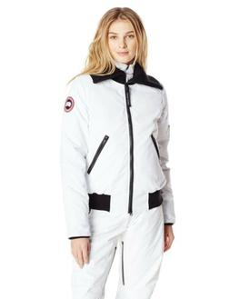 NWT Authentic Canada Goose Women's Huron Bomber Jacket White