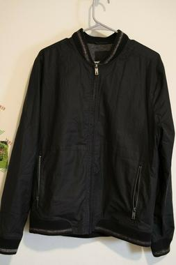 NWT TED BAKER  BOMBER  JACKET  4 Black Zipper Pockets