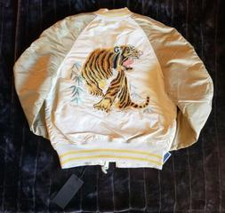 NWT Alpha Industries Embroidered Tiger Flight Bomber Jacket,