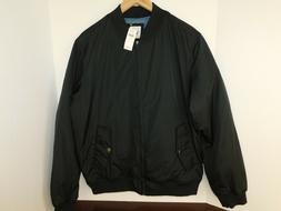 NWT GAP Men's Black Warm Bomber Jacket Lined Sizes S & M MSR