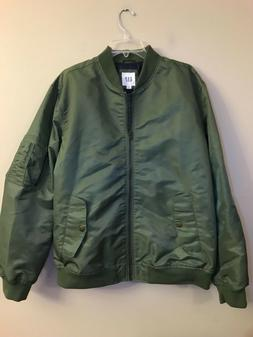 NWT GAP Men's Bomber Jacket XL Green #51481
