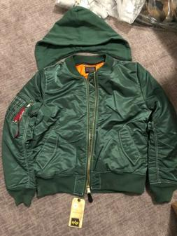 NWT Alpha Industries Men's MA-1 Flight Bomber Jacket With Re
