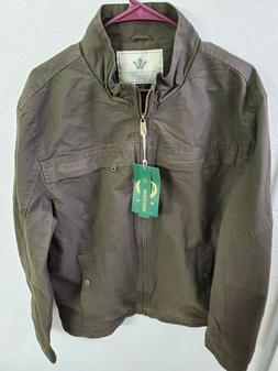NWT WenVen Men's Stand Collar Cotton Military Jacket Army Gr