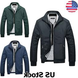 Oversized Mens Jacket Lightweight Bomber Coat Casual Outfit