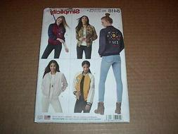 Simplicity Pattern 8418 Misses' Lined Bomber Jacket with Var