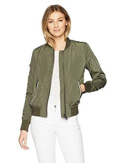 Levi's Women's Poly Bomber Jacket with Contrast Zipper Pocke