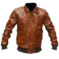 S/44'' Chest - Aviator A-2 Flight Jacket Distressed Brown Bo