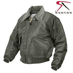 Sage Green Flight Jacket Nylon Military Air Force Style CWU-