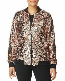 Bagatelle Sequin Bomber Jacket   Formal Jeweled  Metallic___